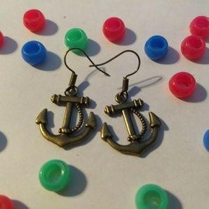 ANCHOR EARRINGS - Boat Ship Jewelry Navy Marines